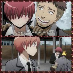 Terasaka, Karma, Asano, funny, text, quote, comic, blushing, kicking, Assassination Classroom; Photo Collages