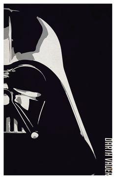 Star Wars minimalistic poster set Darth Vader от PrintMadness
