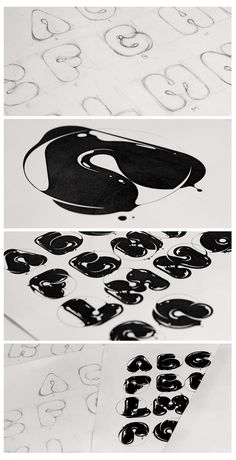 by Erik Erdokozi, via Behance Typography Alphabet, Graffiti Alphabet, Typography Layout, Vintage Typography, Typography Poster, Graphic Design Typography, Lettering Design, Number Typography, Calligraphy Words