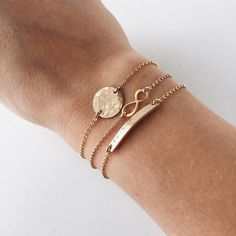 Simple yet flashy. The hammered disc bracelet is a classic bracelet piece appropriate for any occasion. - Select a bracelet size. See our Sizing Chart for bracelet sizing. - This item is custom made. #goldbracelet
