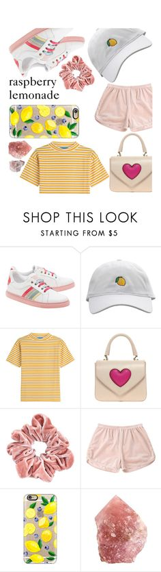 """""""raspberry lemonade"""" by rainsday ❤ liked on Polyvore featuring RED Valentino, M.i.h Jeans, Moschino Cheap & Chic and Casetify"""