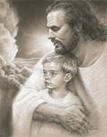 """""""And if any man sin, we have an advocate with the Father, Jesus Christ the Righteous."""" — John Here, Jesus isn't just praying to the Father; He's praying to the Father for us. Religion, Pictures Of Jesus Christ, Padre Celestial, Lds Art, Jesus Art, Jesus Is Lord, Christian Art, Kirchen, Heavenly Father"""