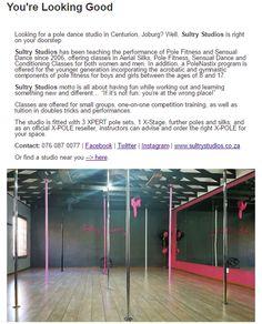 Sultry Studios #StudioSpotlight Pole Dance Studio, Pole Dancing, Aerial Silks, Pole Fitness, South Africa, How To Look Better, Studios, Basketball Court, Teaching