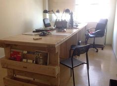 Wood Pallet Office Computer Desk | 99 Pallets