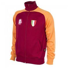 Chaqueta Retro del AS Roma 1983 Scudetto - Rojo/Naranja #asrom #retro #track #jacket 1983 #COPA
