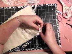 ▶ Shabby Chic Christmas Stocking Tutorial - YouTube