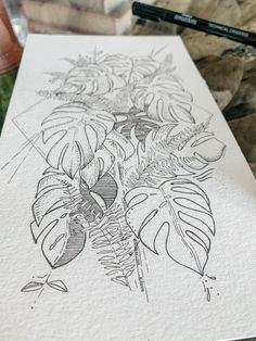 Infinity Tattoo Designs, Temporary Tattoo Designs, Line Drawing Tattoos, Tattoo Drawings, Sketch Tattoo Design, Tattoo Sketches, Floral Tattoo Design, Botanical Tattoo, Botanical Drawings