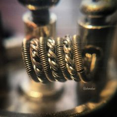 24g/34g clapton paralleled with 4 x 28g chain wire over twisted and flattened…