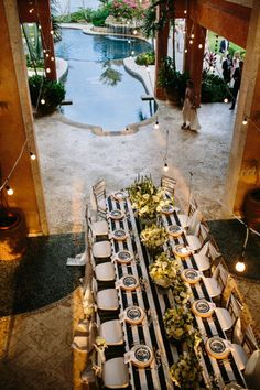 Amazing poolside reception in the Dominican Republic. Photography by carolineplusben.com  Read more - http://www.stylemepretty.com/2013/09/06/dominican-republic-wedding-from-caroline-ben-photography/