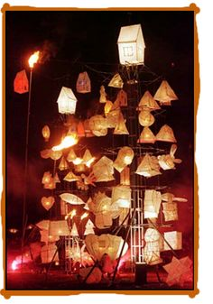 Hannah Fox - Hannah on the Hill Balloon Lanterns, Paper Lanterns, Origami Paper Art, Paper Crafts, Winter Light Festival, Lantern Image, Willow Weaving, Different Kinds Of Art, Paper Light