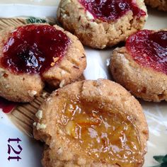 Turnips 2 Tangerines: Jeweled Almond Thumbprint Cookies, The Great Food Blogger Cookie Swap
