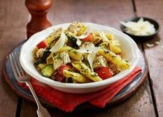 Turn leftover roast chicken into a quick pasta dish with veg