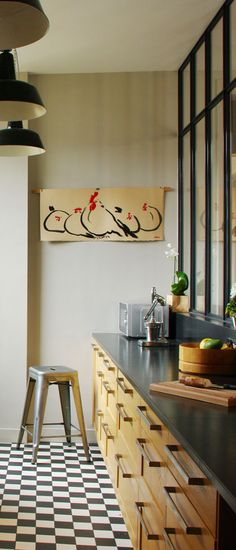Appartements | Laurent Bourgois et Caroline Sarkozy Laurent, Design Ideas, Kitchen, Apartments, Cooking, Kitchens, Cuisine, Cucina