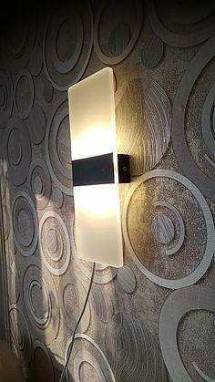 Modern Strip Acrylic LED Wall Lamp – Warmly Led Wall Lamp, Wall Sconce Lighting, Home Lighting, Wall Sconces, Outdoor Lighting, Modern Bedroom Lighting, Modern Lighting, Wasting Light, Black Bedroom Decor