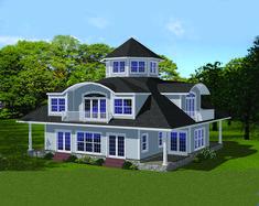 Unique Design with Clerestory - 61004KS | 2nd Floor Master Suite, Beach, Butler…