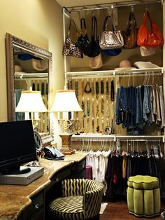handbags, jewelry organization