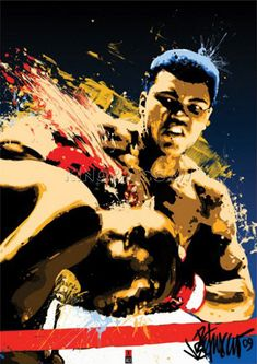 Muhammad Ali (Sting) Art Print by Anonymous at King & McGaw