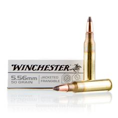 Winchester 5.56x45 Ammo - 20 Rounds of 50 Grain Frang. Ammunition #556x45 #556x45Ammo #Winchester #WinchesterAmmo #Winchester556x45 #JacketedFrangibleAmmo #556NATO