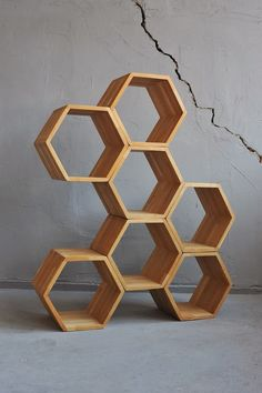 hexagon stacking box display | HONEYS by divadlo