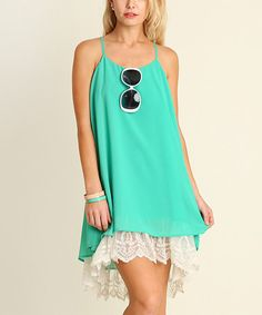Another great find on #zulily! Jade Lace-Hem Shift Dress #zulilyfinds
