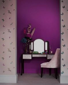 pale and rich purple colors for modern interior design-love!