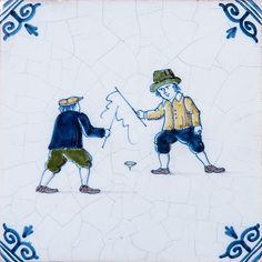 Childrens Games Poly Glazed Ceramic Tiles 4x4 | Country Floors of America