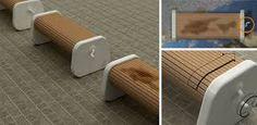 Bilderesultat for bench public space social design Art Et Design, Nachhaltiges Design, Yanko Design, Creative Design, Wo Ist Waldo, Pet Station, Used Chairs, Public Seating, Bench Designs