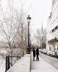 Romantic couple in Paris.