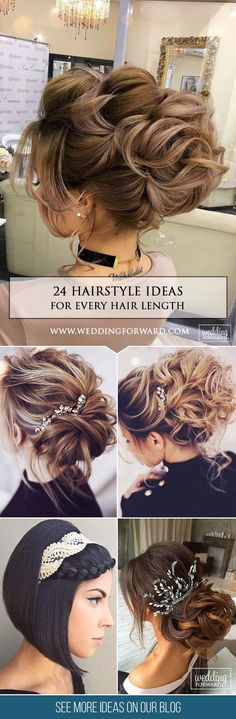 24 Wedding Hairstyles For Every Hair Length ❤ We collected for future Mrs some ideas of wedding hairstyles for every hair length. See more: http://www.weddingforward.com/wedding-hairstyles-every-hair-length/ #weddings #hairstyle
