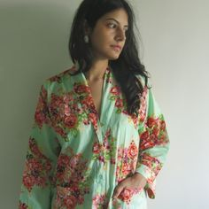 Housecoat made From CC1 Fabric Pattern