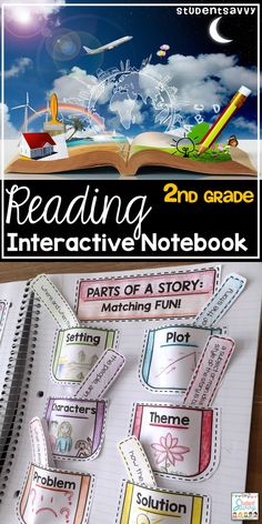 Reading Interactive Notebook for Grade - Includes cover and activities for students during independent reading time! 2nd Grade Activities, Reading Activities, Teaching Reading, Library Activities, Teaching Spanish, Guided Reading, Learning, 2nd Grade Ela, 2nd Grade Reading