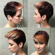 Ombre, Pixie Haircuts - Trendy Short Hairstyle 2016