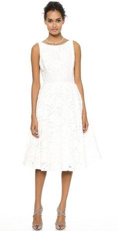 alice + olivia Zack Lace Mid Calf Dress | SHOPBOP