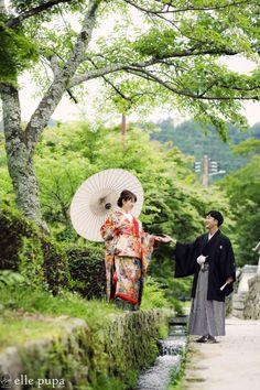 和装前撮り*日吉大社&琵琶湖へ  *ウェディングフォト elle pupa blog*