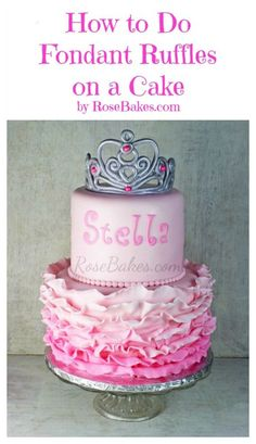 How to do Fondant Ruffles on a Cake ... video and picture tutorial!