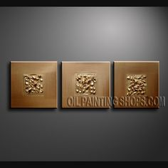 Beautiful Modern Abstract Painting Oil Painting On Canvas For Living Room Abstract. This 3 panels canvas wall art is hand painted by Bo Yi Art Studio, instock - $133. To see more, visit OilPaintingShops.com