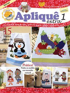Artesanato - Apliquê - Patchwork : COL AMANDA APLIQUE EXTRA 001 - Editora Minuano