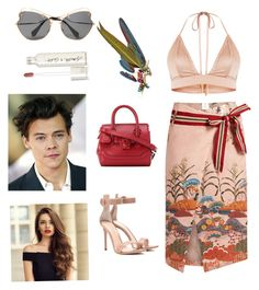 """Tonight show with harry"" by idil-gundogdu on Polyvore featuring moda, Stella Jean, Versace, Miu Miu, Anabela Chan, Gianvito Rossi ve Smith & Cult"