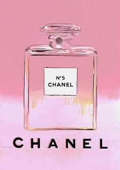 PINK Chanel Vintage Poster by Warhol Chanel No5  Ad