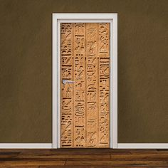 Door Decal Self-Adhesive Vinyl Sticker Hyeroglyphics by Decorelo