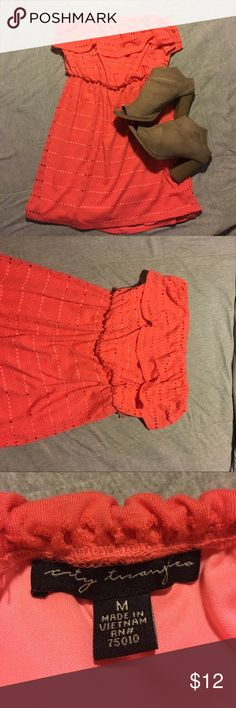 Coral summer dress **DRESS ONLY** Summer dress worn once! City Triangles Dresses Mini