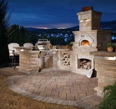 """Belgard recently announced the addition of the Chicago Brick Oven collection to their product line. """"We have always focused on creating a spectacular outdoor living environment,"""" states Ken O'Neill, Vice President of Belgard Hardcapes. Outdoor Spaces, Outdoor Living, Outdoor Decor, Outdoor Ideas, Pavillion, Gazebos, Pizza Oven Outdoor, Brick Oven Outdoor, Outdoor Cooking"""