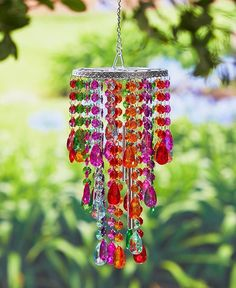 Chandelier Wind Chime Crystal Jewel Shimmer Decorative Clear Amber Multi-color