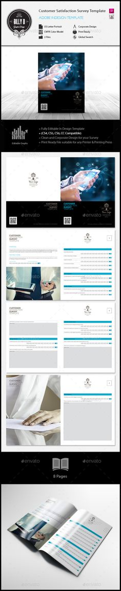Customer Satisfaction Survey Template CMYK \ Print Ready Clean - customer satisfaction survey template