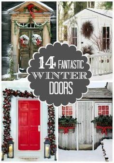 14 Fantastic Winter Doors - So beautiful! I especially like the first one: so simple. by June Kelley Roper