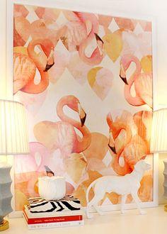 Flamingos Wall Art Home Decor