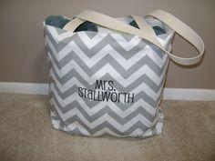 Large Teachers bag beach tote pool bag tote in by Elizabethsplace, $35.00