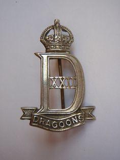 22nd Dragoon Guards Cap Badge