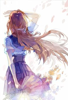Imagine a pretty and tall girl, waiting for her senpai at the front gate of a high school. It was time for her senpai to graduate...and yet, even though she thought she was ready to give in the bouquet, she looked up at the sky, with puzzled, anxious, and hesitant eyes.