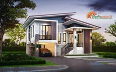 Two story house plans are ideal for a growing family. Since it has all the rooms and space that the family needs, each member can have a room to relax, to enjoy, and have fun. The two story house plan that House Roof Design, Two Story House Design, 2 Storey House Design, Two Story House Plans, Simple House Plans, Two Story Homes, Modern House Plans, Future House, My House